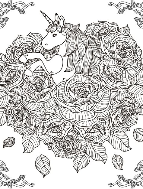 free printable coloring pages for adults unicorns unicorn coloring page for adults printable1 jpg 2 500