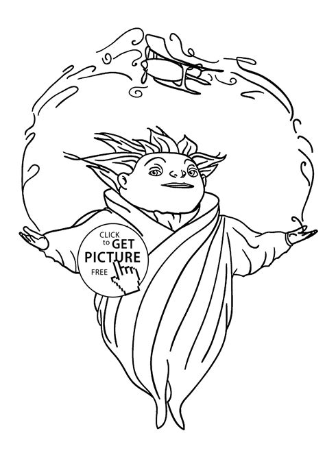 Sandman From Rise Of The Guardians Coloring Pages For Kids Guardian Coloring Page