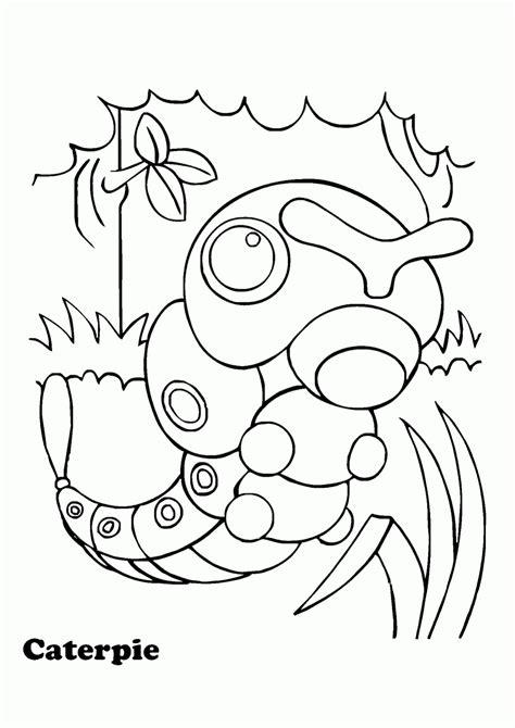 Mewarnai Gambar Pokemon Caterpie - Contoh Anak PAUD