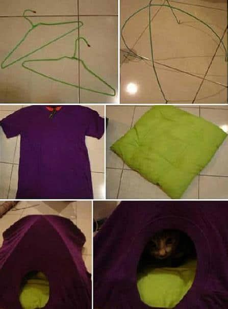 easy diy cat tent