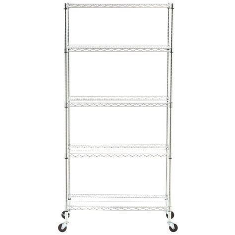 seville classics 5 tier 18 in x 36 in commercial wire