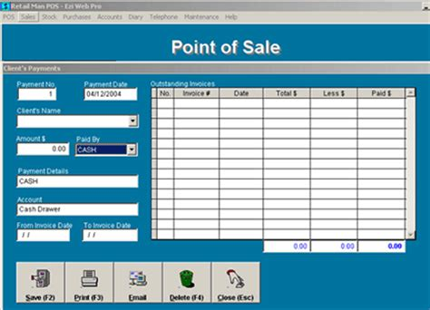 Home Design Software Shareware by Retail Man Pos Shareware Version 2 1a By Kielder Connections