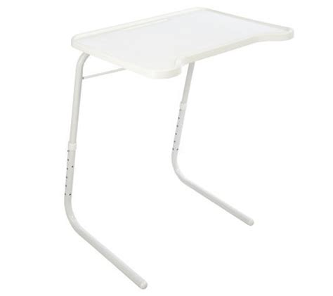 table mate adjustable multi purpose folding table tablemate multi purpose adjustable folding table qvc com