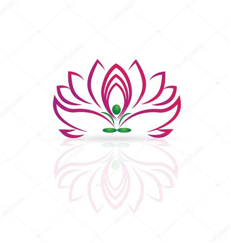 lotus flower logos logo lotus flower stock vector 169 glopphy 83539632