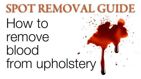 how to remove blood stains from upholstery how to get blood out of upholstery remove blood stain from