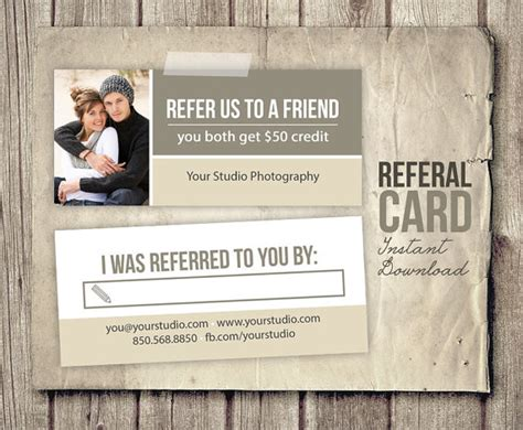 free photography referral card templates photography referral card template rep card referral