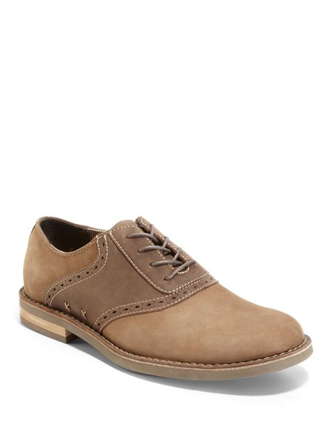 original penguin oxford shoes lyst original penguin terry saddle oxford shoes in brown