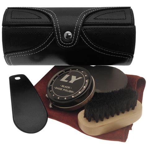 sophos travel shoe care kit in black leather 163 23 50 birtchnells menswear