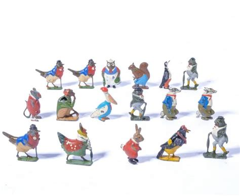 Toys Planning Painted Figures britains toys cadburys co co cub painted lead figures a goo