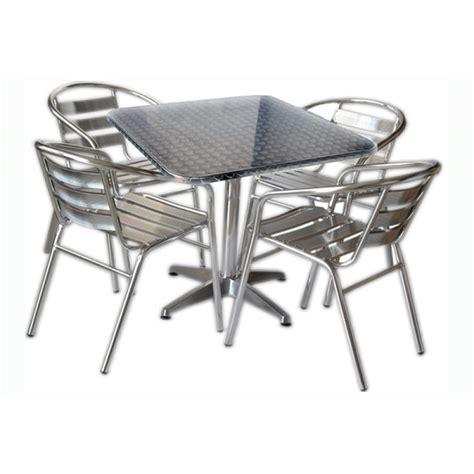tavolo con 4 sedie set tavolo bar quadrato con 4 sedie in alluminio san marco