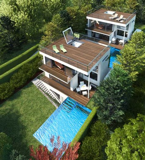 pool house design plans three story house plans by architekt di johann lettner