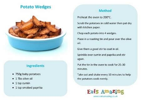 printable simple recipes really easy potato wedges recipe eats amazing