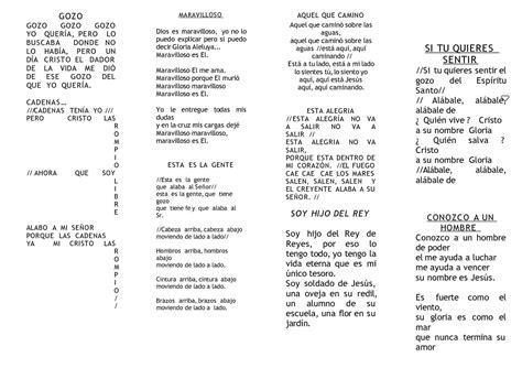 cadenas de coros cristianos evangelicos letras calam 233 o cancionero arco iris ppa