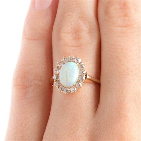 Wedding Rings With Opal by Opal Engagement Ring Www Imgkid The Image Kid Has It