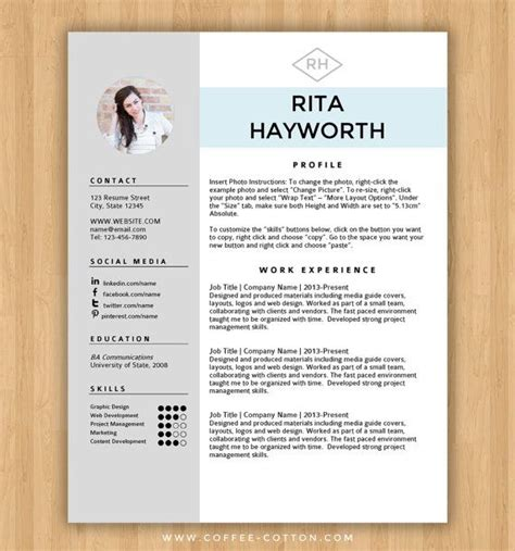 25 best ideas about free cv template on pinterest cv