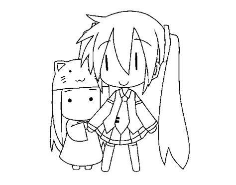 imagenes de hatsune miku kawaii para colorear desenho de miku e kasane chibi para colorir colorir com