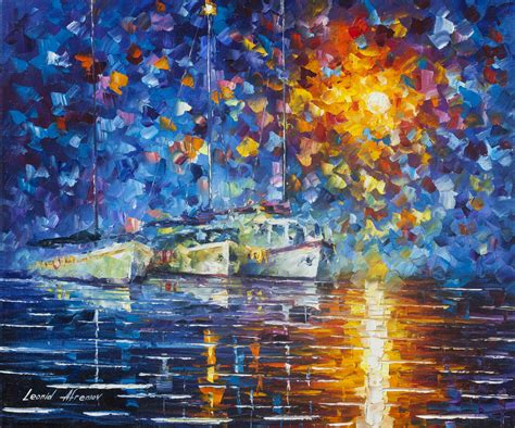 popular artwork yachts by the sun palette knife oil painting on canvas