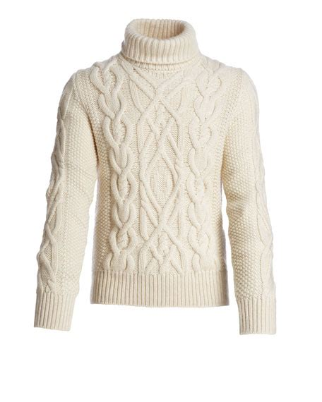 fisherman cable knit sweater tom ford aran cable knit fisherman turtleneck sweater ivory