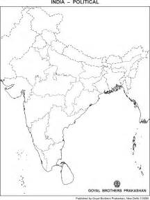 Blank Outline Political Map Of India by India Blank Map Political