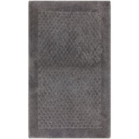 grey bath rug mohawk home laguna grey 20 in x 34 in bath rug 313417 the home depot