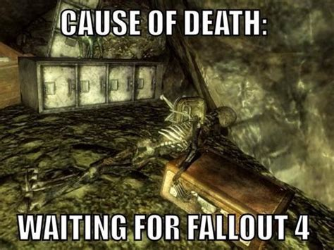 Fallout Meme - cause of death waiting for fallout 4 fallout know