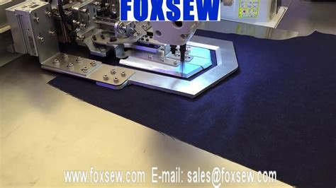 pattern machine you tube automatic pattern sewing machine for back pocket youtube