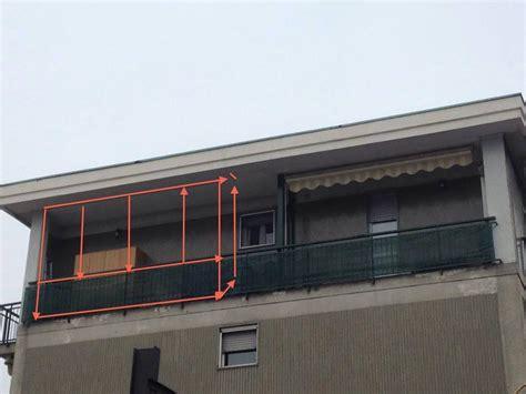 veranda sul balcone realizzazione veranda su balcone a bresso
