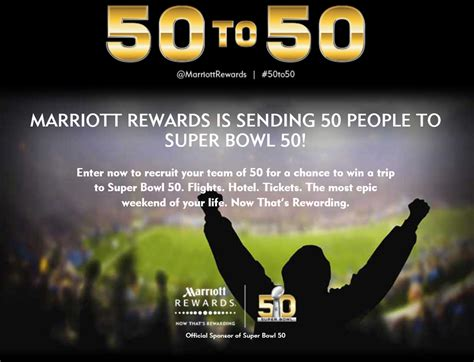Courtyard By Marriott Nfl Sweepstakes - win a trip to the superbowl marriottrewards 50to50 momstart