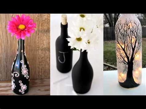 glass home decor upcycled diy glass bottle home decor ideas painted