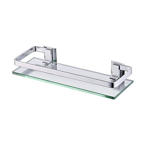 Bathroom Glass Shelves With Rail Kes Bathroom Shelf Glass Shelf With 13 6 Quot Aluminum Rail Shower Orgainzer Ebay