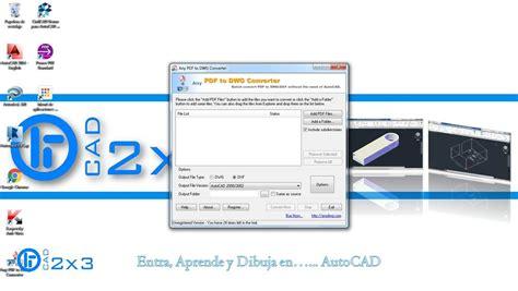 pasar imagenes jpg a pdf como pasar un archivo pdf a dwg cad2x3