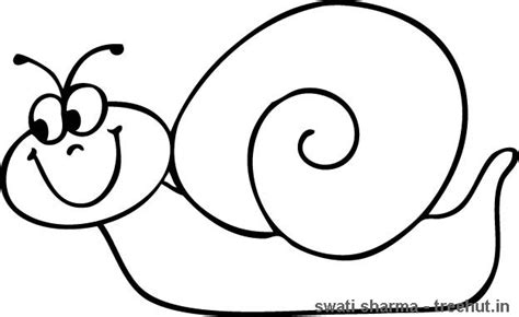 snail coloring page 1 treehut in