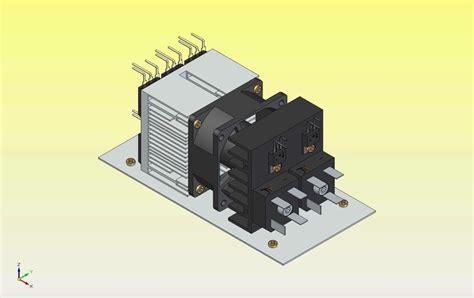 heat sink model heat sink with fan step iges 3d cad model grabcad