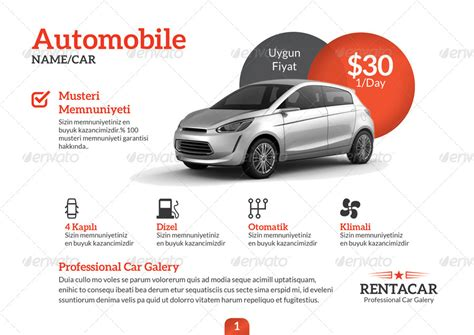 Car Brochure Template by Rent A Car Brochure Template By Grafilker Graphicriver