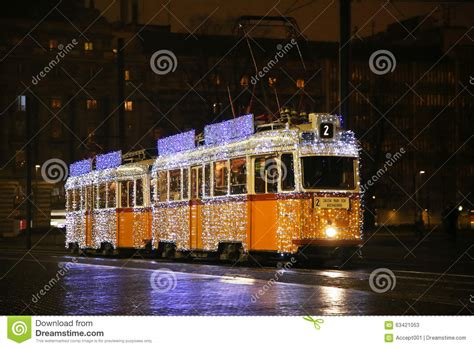 city lights christmas special special christmas tram with festive lights in budapest