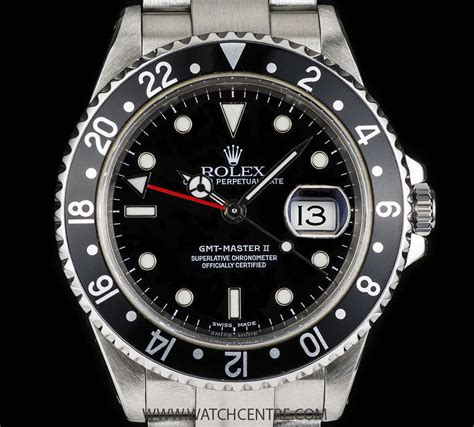 Rolex Gmt Silver Saphire 2 rolex stainless steel o p black bezel gmt master ii b p