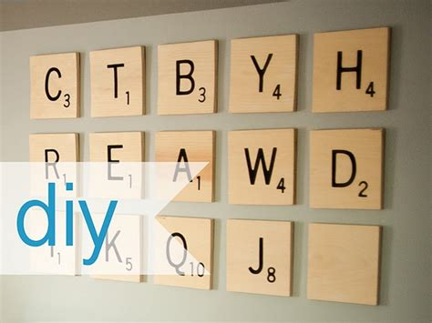 is oh a scrabble word sized scrabble tile wall i would spell out