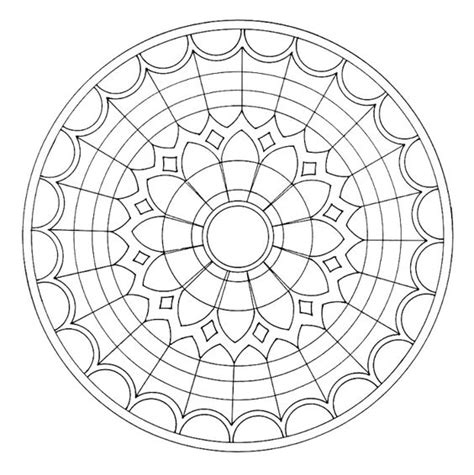 mandala stained glass coloring books stained glass window coloring page free coloring pages
