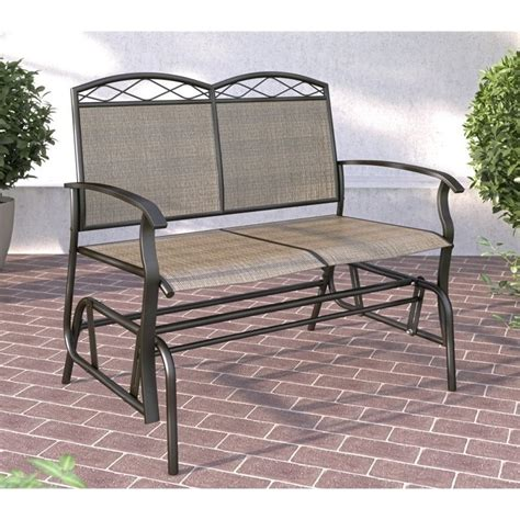 glider outdoor patio furniture patio glider bench outdoor deck chair furniture porch loveseat seats 2 ebay