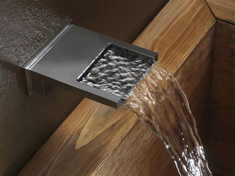 waterfall bathtub spout chrome plated wall mounted waterfall spout bocca cascata