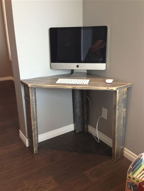 diy corner computer desk rustic corner desk office guest room furniture