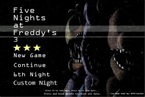 five nights at freddy s fan made games five nights at freddy s 3 fan made game the return to