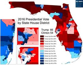 florida senate district map presidential results by florida state house district mci