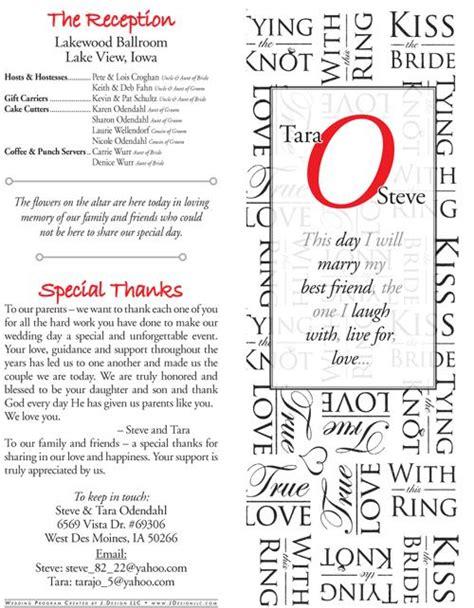 wedding bulletin layout sles gallery wedding bulletin