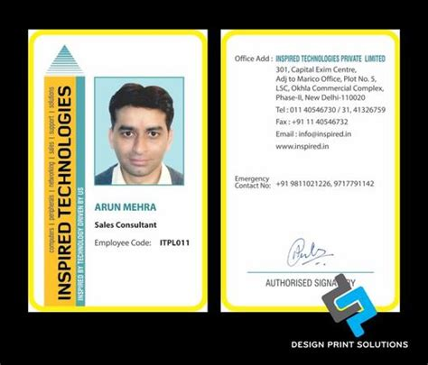 sle id card template employee id card design template free company employee