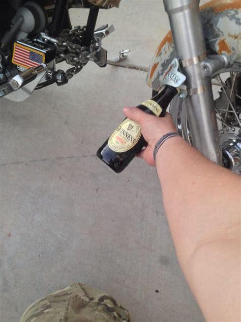 bike seat bottle opener check out the desert warrior harley shtf motorcycle