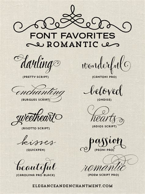 font favorites romantic michellehickey design