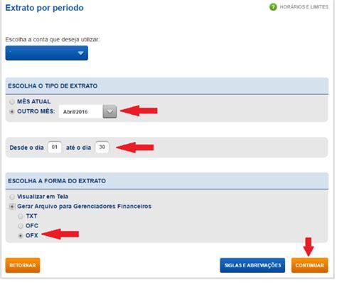 extrato caixa 2015 como exportar o extrato banc 225 rio em arquivo ofx em 5