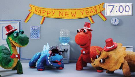 dinosaur office: new year's party videos nintendo 3ds