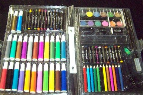 markers and colored pencils set with markers crayons paints colored pencils and